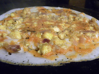 dosa with paneer masala flavored with onions and spices