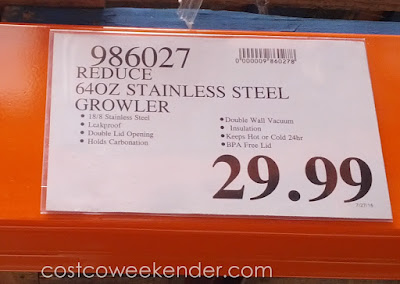 Deal for the Reduce 64oz Stainless Steel Growler at Costco