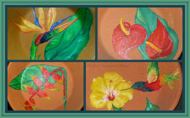 Bird Of Paradise, Anthurium, Heliconia, Hibiscus with Humming Bird