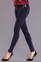 Pantaloni moderni, skinny, de culoare bleumarin ( )