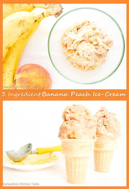 3 Ingredient Banana Peach Ice-Cream