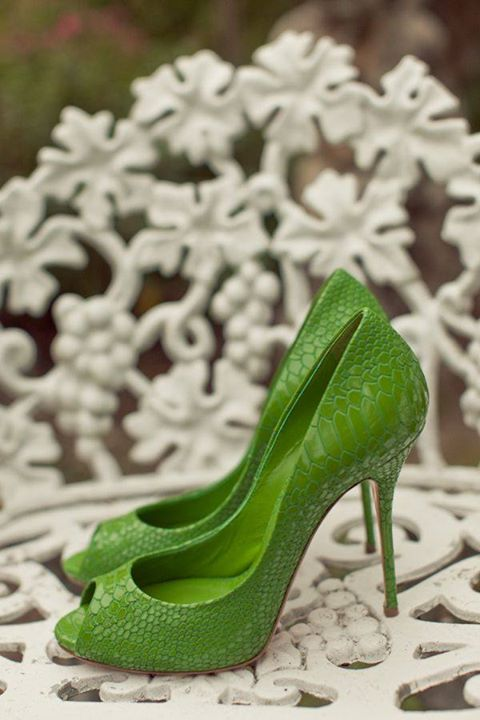 Green Cut Out Heels  Designs | Heels