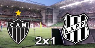 Ficha da Bola Placar Atlético MG 2x1 Ponte Preta 32ª Rodada Campeonato Brasileiro 2015
