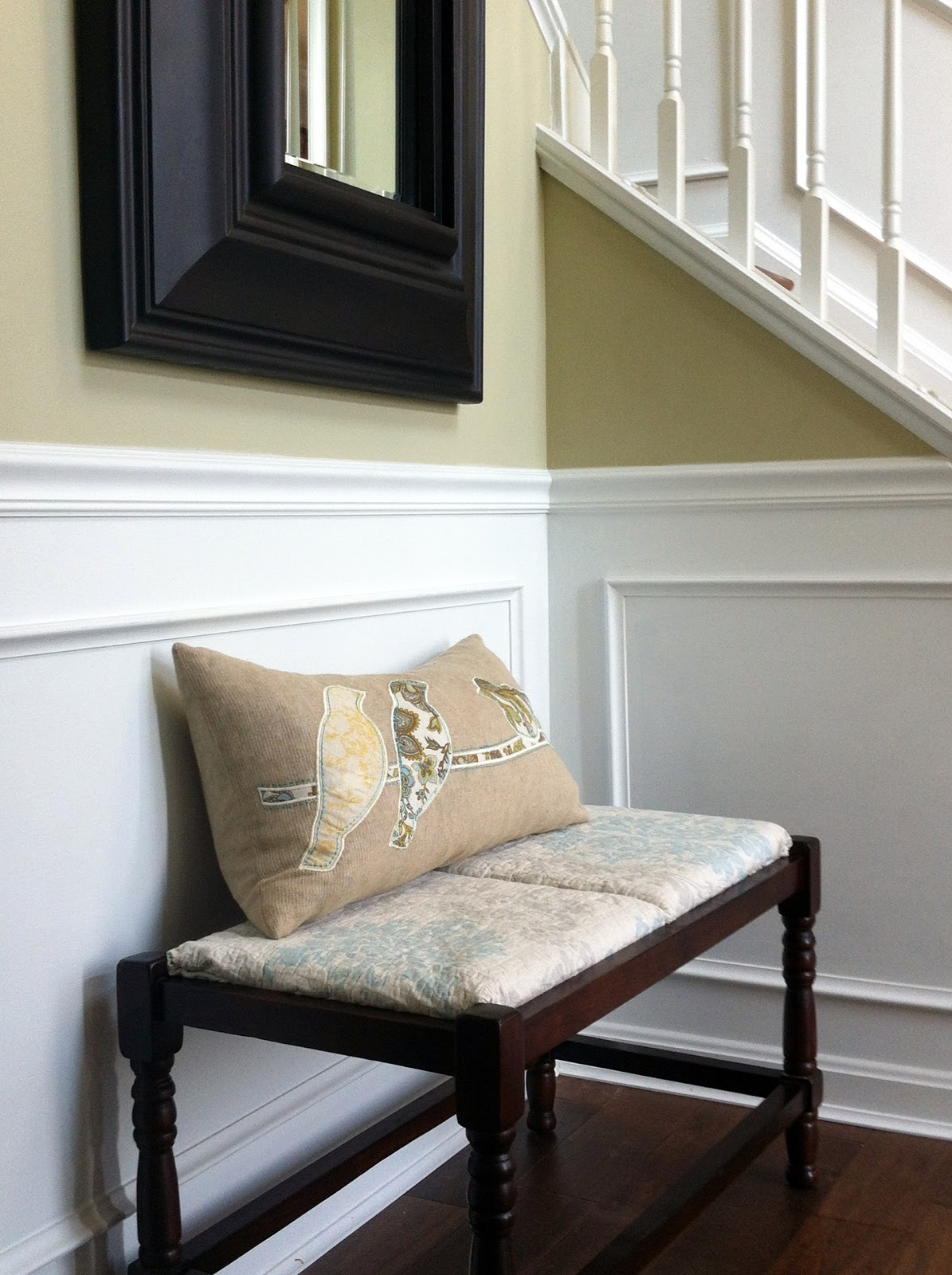 Foyer Seating Bench : Loveyourroom quickly change that rush bench seat diy idea