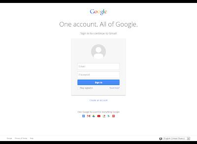 Google New Log In UI Design