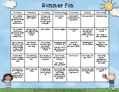Bits of First Grade: Freebie: Summer Activities Calendars and June ...