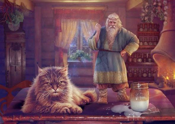 Vasylina Holodilina deviantart ilustrações foto-manipulações fantasia mitologia eslava