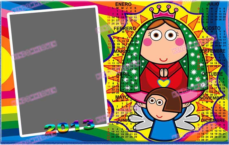 calendario 2013 psd religioso religion virgen maria