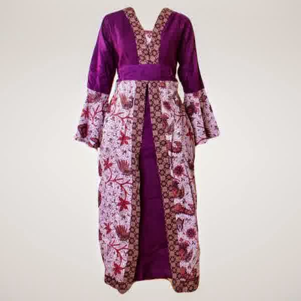 Model desain Gamis Batik Orang Gemuk