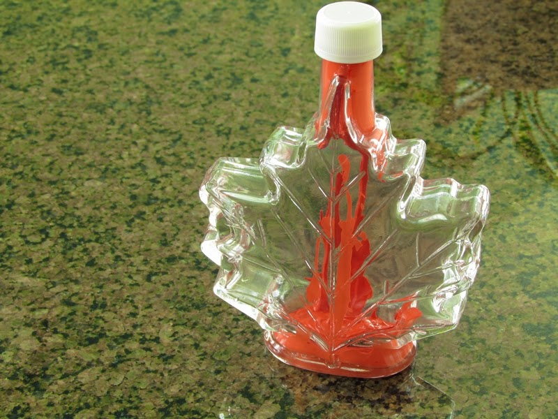 Tutorial: painted glass maple syrup bottle