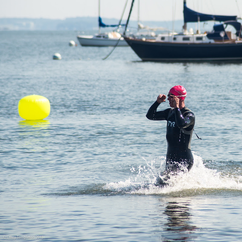 Peaks to Portland Swim in Portland, Maine. Photo by Corey Templeton.