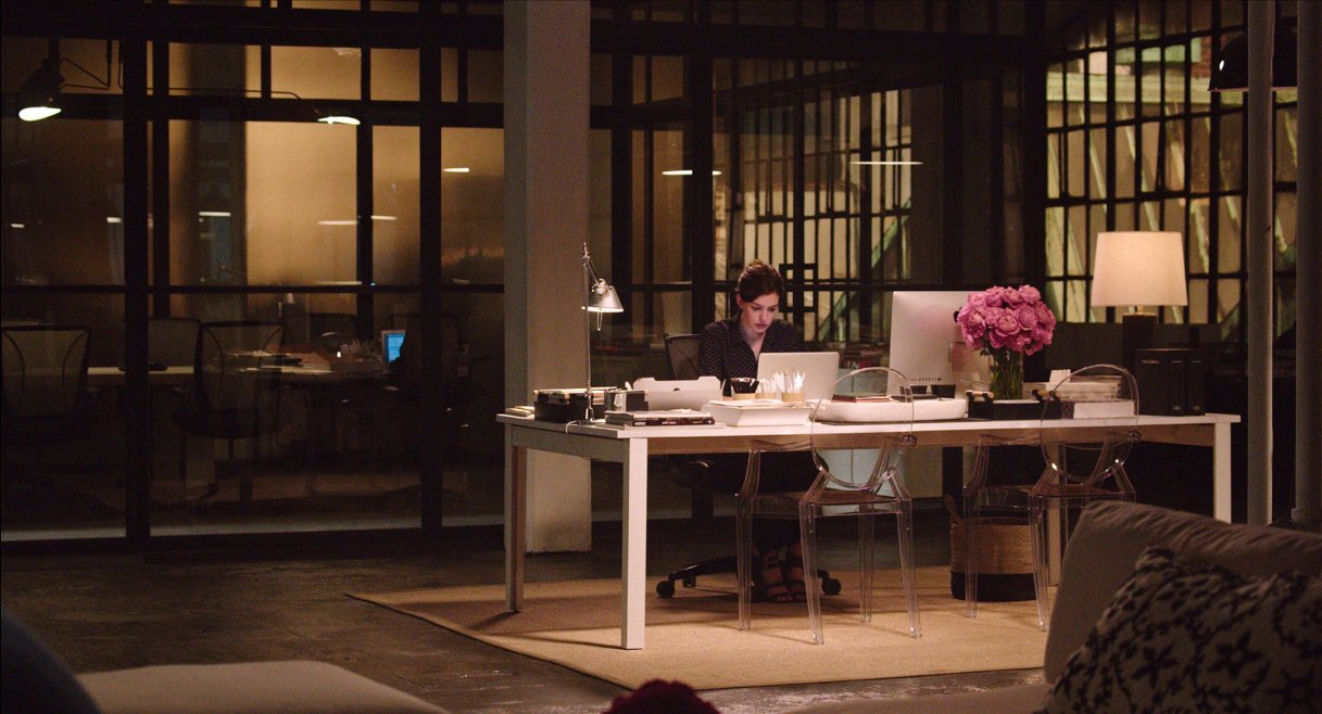 The intern 7 clips and 33 pictures the entertainment for Movie set design