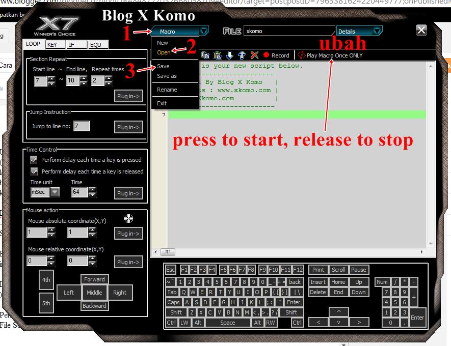 Cara Setting Mouse Macro x7 A4tech Lengkap Untuk Quickchange QuickScope No-Recoil