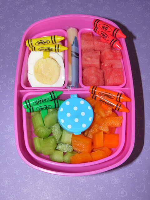 rainbow crayon bento lunch