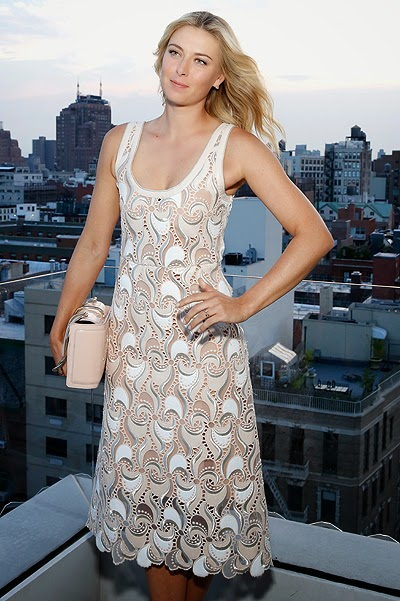 Maria Sharapova at the event against breast cancer