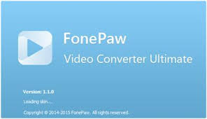 FonePaw Video Converter Ultimate 1.2.0 Crack With Serial Key Full Version Free Download