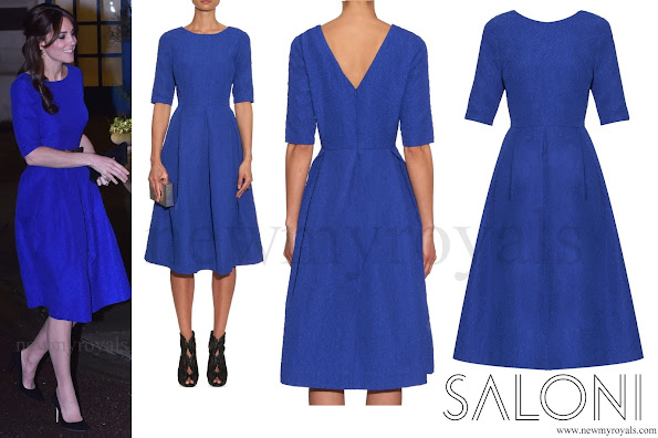 Kate Middleton  wore Saloni Martine Crinkle-Effect Dress