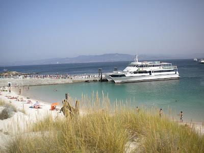 Embarcadero de Rodas, Islas Cíes, julio 2012