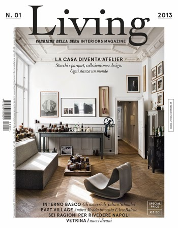 Living una nueva revista italiana de decoraci n etxekodeco for Aldaba decoracion