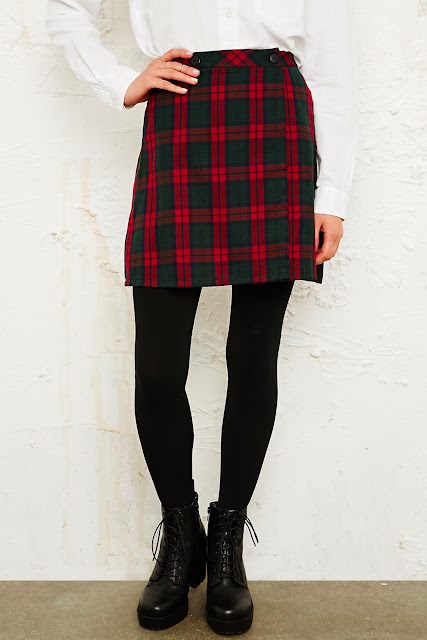 tartan skirt urban outfitters