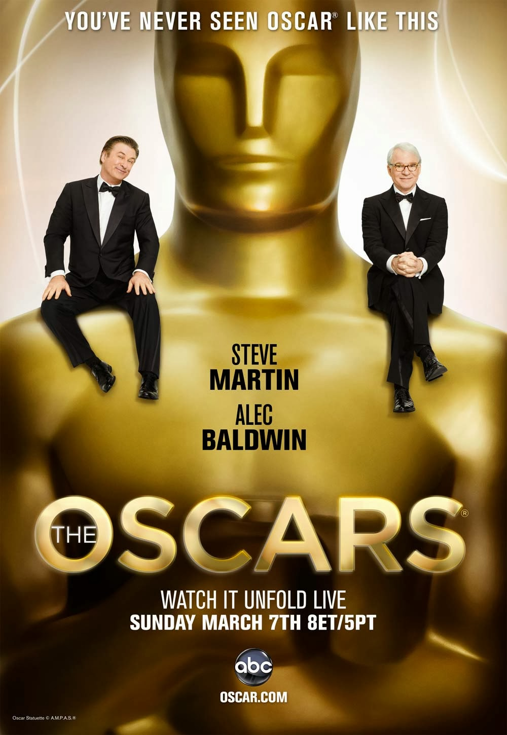 Oscars 2014 ceremony poster featuring ellen revealed for Oscar awards winning movies