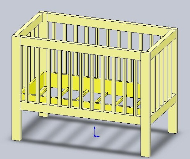 Детская кроватка для новорожденных своими руками чертеж 118