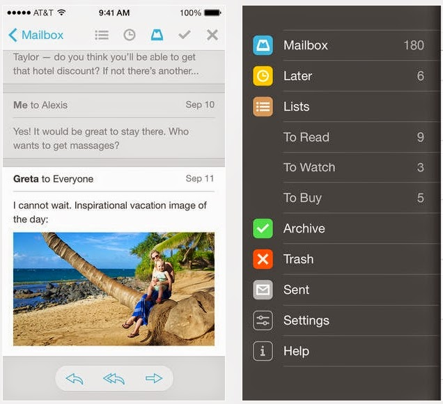 Mailbox app for iOS, Update 2.0 of Mailbox app for iOS, Mailbox app  Update 2.0, Mailbox, iOS Mailbox, free apps, iOS 7,