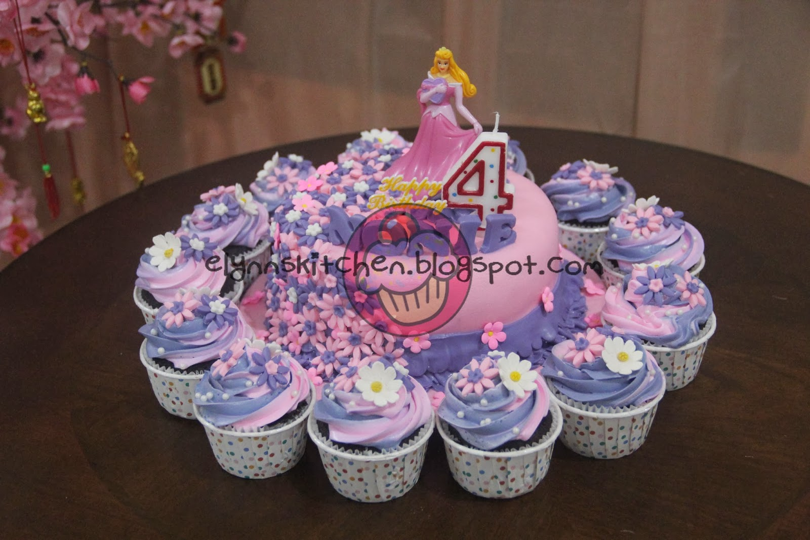 ... Princess Theme Birthday Cake & Cupcakes for Nonie's 4th Birthday
