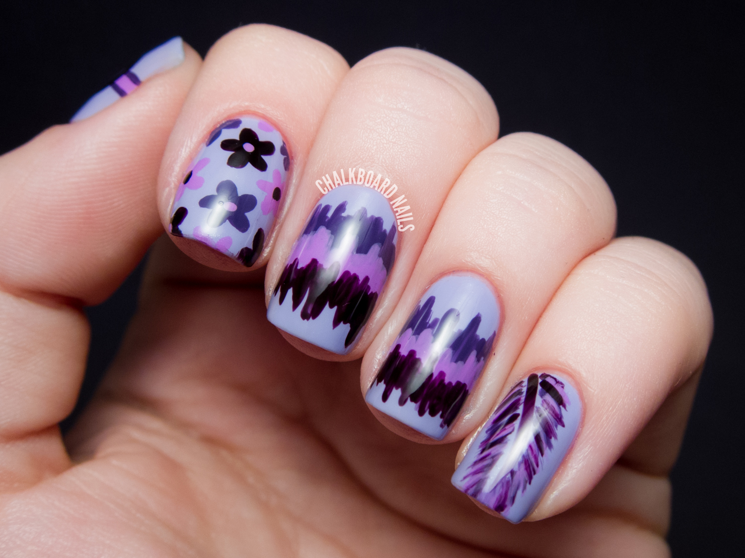 31dc2013 day 06 violet hippie mix chalkboard nails nail art blog im so happy that i had an easier time coming up with this nail art than i did on blue day two days in a row of that and i think i prinsesfo Choice Image