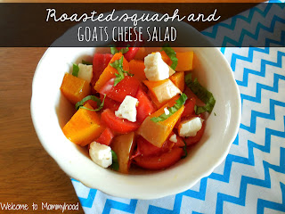 Healthy Butternut Squash Recipes: Roasted squash and goats cheese salad  #easyhealthyrecipes