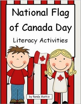 http://www.teacherspayteachers.com/Product/National-Flag-of-Canada-Day-Literacy-Activities-544179