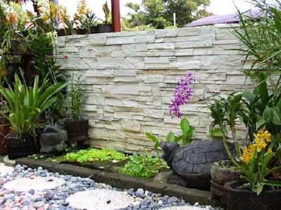 pagar batu alam dan batu kali