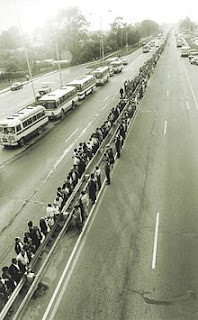 Baltic Way Human chain in Lithuania