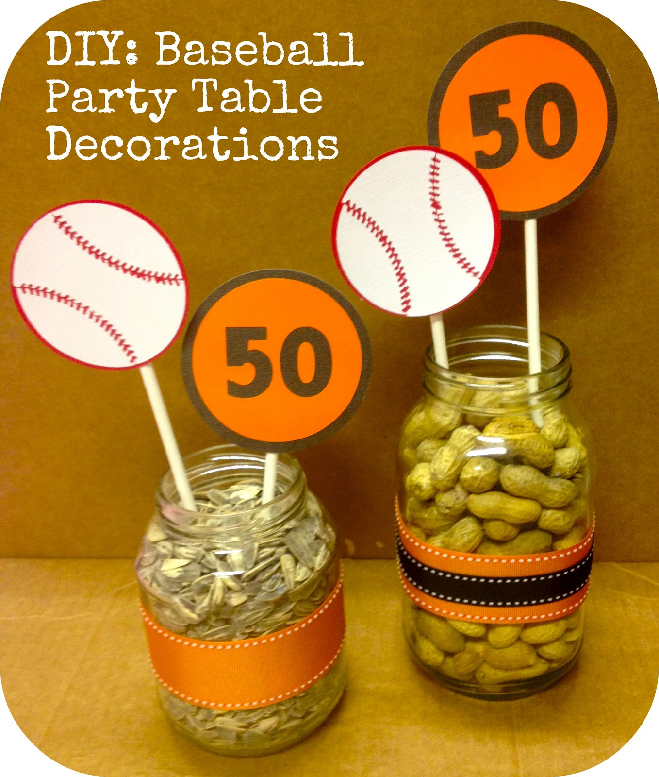 measure once, cut twice: baseball party: table decorations {part 3}