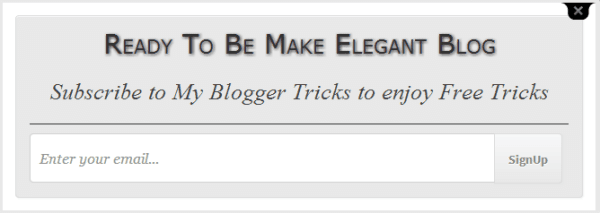 E-mail subscription widget for blogger