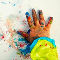 Ideas para jugar con las manos burbujitas - Ninos pintando con las manos ...