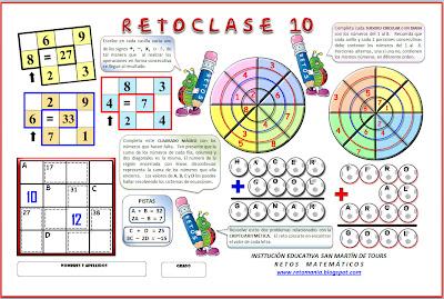 Retos Matemáticos, Problemas de Ingenio Matemático, Problemas de Lógica, Criptoaritmética, Criptosumas, Cuadrados Mágicos