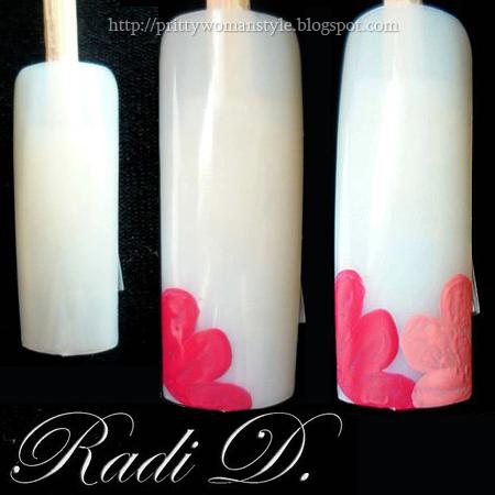 декорация на нокти с две цветенца