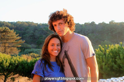 David Luiz and his wife Sara Madeira