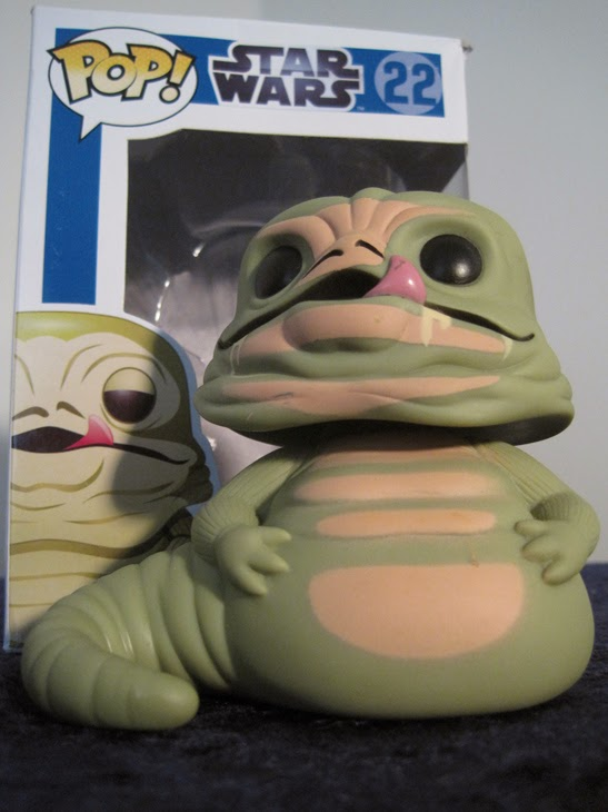 Funko Pop! Star Wars Jabba the Hutt with box.