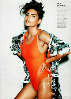 Magazine Photoshoot : Alyssa Miller Photoshot For Allure Magazine US February 2014 Issue