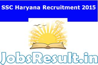 SSC Haryana Recruitment 2015