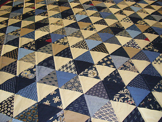 Sunshine and shadow japans blauw is klaar - Quilts gele ...