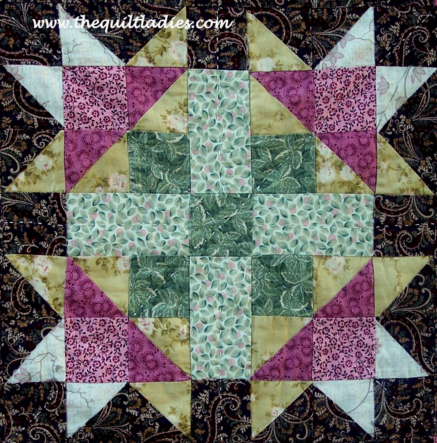 Free Quilt Patterns And Blocks : The Quilt Ladies Book Collection: Free Quilt Pattern Block, Flower Star Quilt Pattern