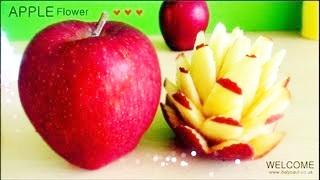 Art In Apples Flower – Fruit Carving Garnish
