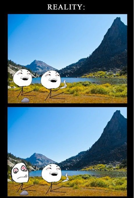 expectation vs reality, funny pictures, funny backpacking adventures pictures, funny expectation vs reality picture