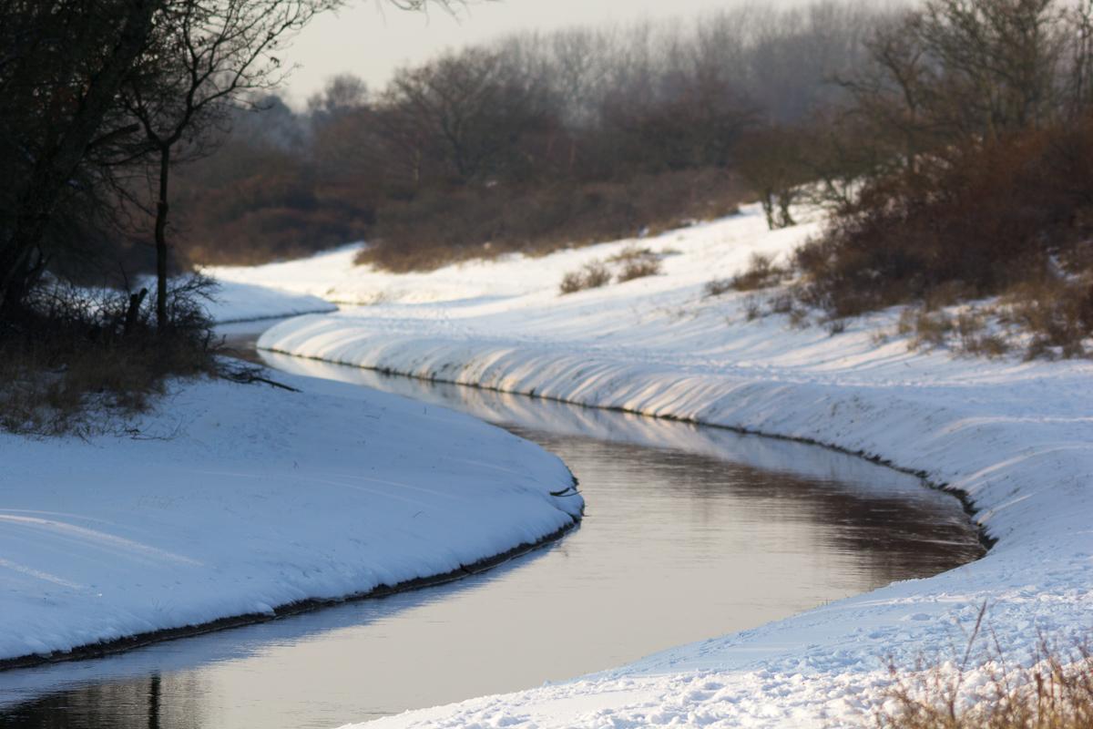 Winterlandschap in de AWD