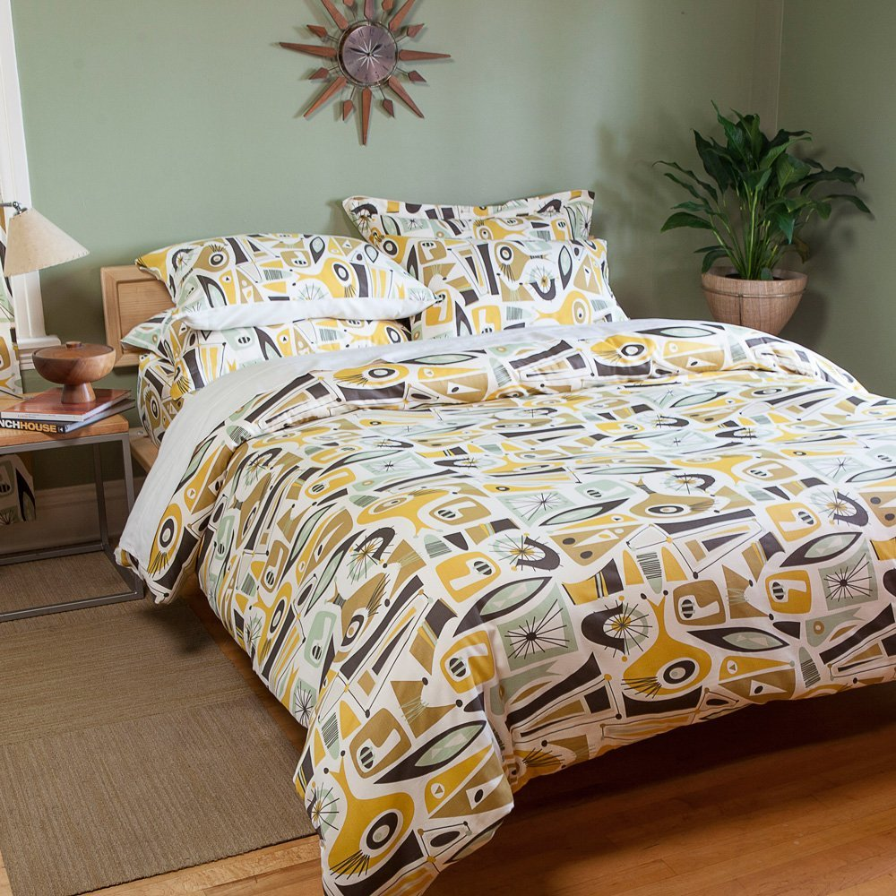 total fab mid century modern bedding sets