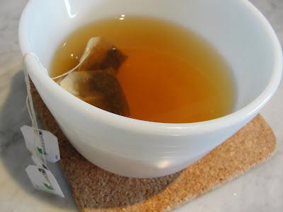 Jasmine Green Tea with lemon and mint