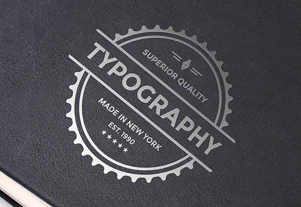 Download Template Mockup Terbaru - Silver Foil Logo Mockup